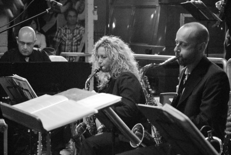 Emi (tastiere) Miki e Giorgio (sax)